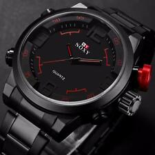 Waterproof Stainless Steel Luxury Date Analog Dress Men's Sport Quartz Watches