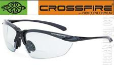 Crossfire Sniper 2.5 Clear Lens Bifocal Reading Magnifier Safety Glasses Z87.1