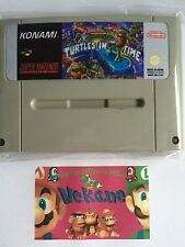Teenage Mutant Ninja Turtles Lost in Time super nintendo snes