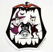 """NIGHTMARE BEFORE CHRISTMAS Witch and Demon RUBBER CAR REF MAGNET 4-1/2"""" Tall New"""