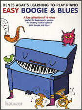 Denes Agay's Learning to Play Piano Easy Boogie & Blues Music Book