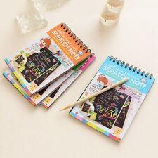 Carton de bricolage dessiner croquis notes pour enfants jouet ordinateur portable alimentation carnets js