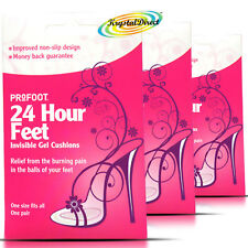 3x Profoot 24 Hour Feet Invisible Gel Cushions High Heels Shoes Boots Sandals