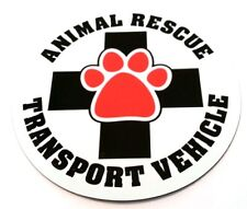 Animal Rescue Transport Dog Magnet US Made Car Magnet FREE MINI W/ PURCHASE