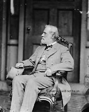 "Robert E Lee relaxing in a rocking chair 8""x 10"" Civil War Photo Picture #32"