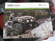 JOHN DEERE GATOR RSX860I UTILITY VEHICLE 4X4 SWWEEEET DEALER SALES BROCHURE