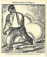 1915 Karl Arnold * Mit Riesenschritten der Heimat zu * Przemysl* Lemberg * WW1