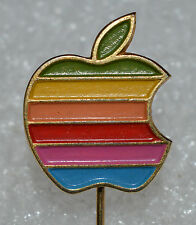 APPLE Computer vintage 80s Rainbow lapel stick pin badge Yugoslavia made Rare