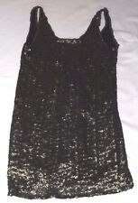 "PULL & BEAR M KHAKI GREEN SEQUIN TUNIC SLEEVELES PARTY DRESS CHEST 34"" 86cm"