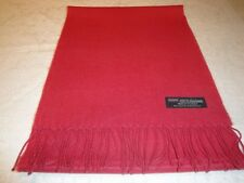 100% Cashmere Scarf Soft 72X12 Solid American Red Made in Scotland Wool Women