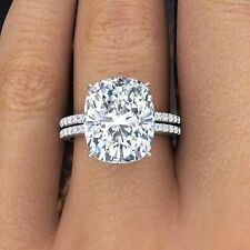2.60 Ct Natural Rectangular Cushion Cut Pave Diamond Engagement Ring GIA