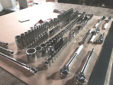 NEW 156 PC OLD SCHOOL BLACKHAWK RATCHETS and SOCKETS SET MADE IN USA VERY NICE!