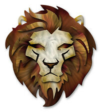 Lion Metal Wall Sculpture Art Contemporary Home Decor Modern Wall Hanging