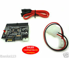 IDE SATA Converter, Supports ATA 100/133 Conversion Board and Cables NEW