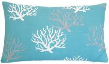 Aqua Blue Coral Decorative Throw Pillow Cover/Cushion Cover 12x20""