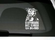 Staffordshire Bull Terrier On Board,Adesivo Auto,Dettagliate, Grande Regalo
