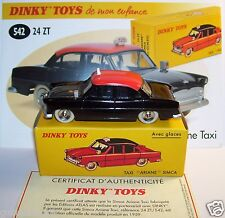 DINKY TOYS ATLAS SIMCA ARIANE TAXI NOIR TOIT ROUGE REF 24ZT 1/43 IN BOX