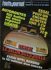 L' AUTO-JOURNAL n 6 . 1er avril 1972 . Opel Rekord .