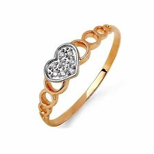 9CT ROSE GOLD AND Cz ELEGANT RING SIZE - N GIFT BOXED RRP £120