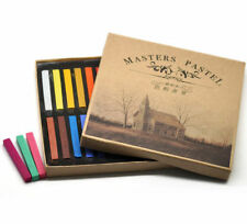 SOFT PASTEL DRY CHALK 24 pcs SET ARTIST BLOCKS DRAWING TONING