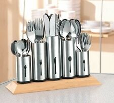 Stainless Steel Kitchen Cutlery Stand Holder Organiser Storage Fork Knives Spoon