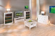 Table basse de salon carré avec rangements moderne campagnard bois massif  BLANC