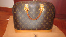 LOUIS VUITTON MONOGRAM ALMA BAG HANDBAG AUTHENTIC LV PURSE
