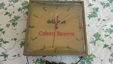 VTG LORD CALVERT RESERVE bourbon clock whiskey