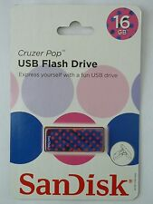 SanDisk Cruzer Pop USB 2.0 Flash Drive - 16GB - NEW!!