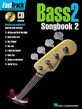 Fast Track Bass Guitar TAB Learn to Play Music Tutor Lesson Book 2 & CD