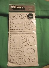 American Crafts Thickers  Accents Chipboard Shapes White--- Brand New