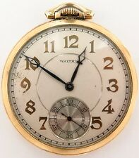"`1935 WALTHAM ""COLONIAL"" 17J 14K GOLD FILLED PRESENTATION P/WATCH. ST LOUIS, USA"