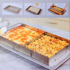 Adjustable Scalable Rectangle Stainless Steel Mousse Cake Mold Ring Baking Tool