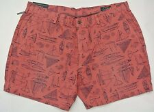 """NEW POLO RALPH LAUREN CLASSIC FIT 6"""" MARITIME SAILING YACHT FLAT FRONT SHORTS 33"""