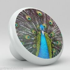 Peacock Ceramic Knobs Kitchen Drawer Cabinet Vanity Closet Pulls 722 Dresser
