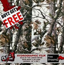 LM WINTER WOODS TREE HYDROGRAPHIC WATER TRANSFER FILM HYDRO DIPPING DIP DEMON