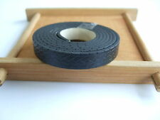 1 Meter 10mm Flat Braided Patterned Embossed Leather Cord For Jewellery Making