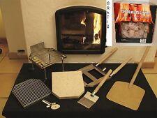 Pizza Casa Pizzastein 10 teilig für Kamine Schwedenofen Holzofen + Pack Anzünder