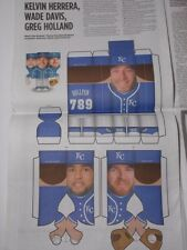 2014 WADE DAVIS KELVIN HERRERA GREG HOLLAND HDH KC KANSAS CITY ROYALS PAPER DOLL