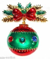 Christmas Tree Ornament Brooch Pin - COMES IN GIFT BOX- USA SELLER
