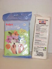 Lot Sculpey Ultra Light Clay + Fimo Effect Modeling Material White NIP