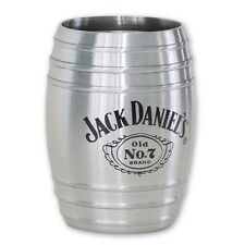 Jack Daniel's Whiskey Medium Barrel Shot Glass 2oz, Stainless Steel