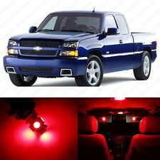 13 x Brilliant Red LED Interior Light Package For 1999 - 2006 Chevy Silverado