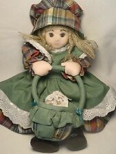CLOTH DOLL PRESSED FACE HAND MADE from SWITZERLAND~BEAUTIFUL!!