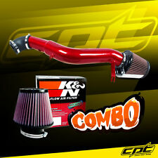 05-10 Jeep Grand Cherokee 3.7L V6 Red Cold Air Intake + K&N Air Filter