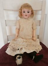 "24"" Antique Heinrich Handwerck German Bisque Doll #4 Original marked Compo Body"