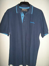 MENS MOUNTAIN WAREHOUSE NAVY WITH BLUE TRIM POLO SHIRT SIZE S NEW
