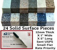 """Solid Surface Material for Pen Blanks / 24 Pieces - 1"""" Wide X 5"""" Long / #PB-023"""