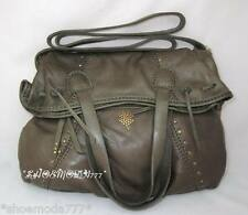 Lucky Brand Sunset Junction Foldover Italian Leather Tote Messenger Purse Olive
