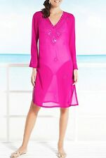 Marks & Spencer Pink Kaftan Beachwear + Embroidery Sizes 12,14,16 RRP £29.50
